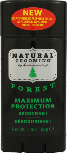 Herban Cowboy Natural Grooming Forest Deodorant Perspective: front