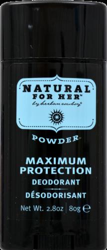 Herban Cowboy Powder Deodorant Perspective: front