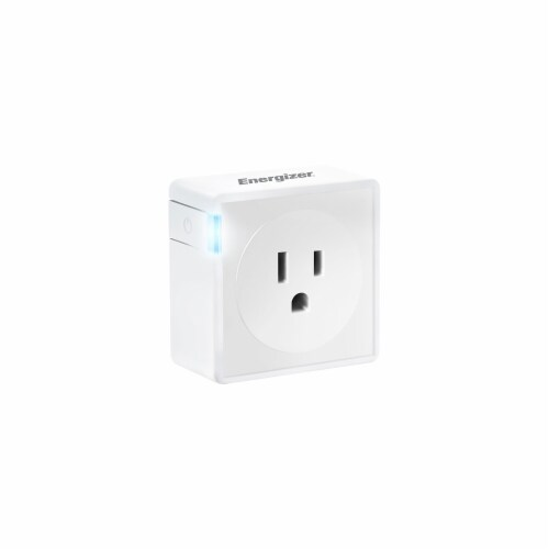 Energizer Connect EIE3-1001-WHT Smart Plug with Energy Monitor Perspective: front