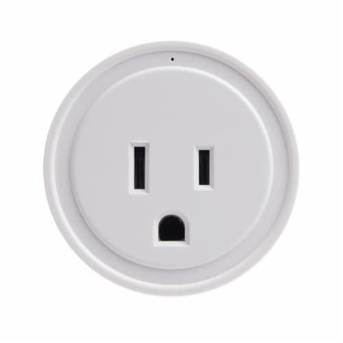Energizer Connect EIX3-1003-WHT 15-Amp Smart Wi-Fi Plug (Single) Perspective: front