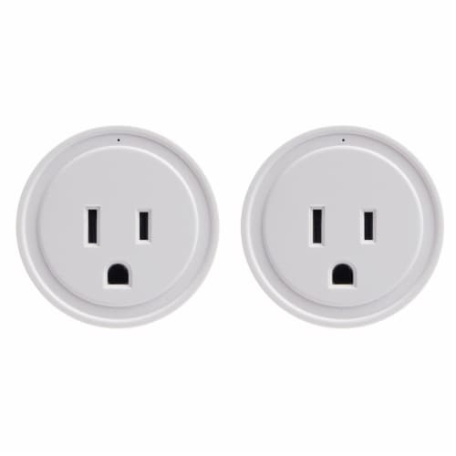 Energizer Connect EIX3-1003-PP2 15-Amp Smart Wi-Fi Plugs (2 Pack) Perspective: front
