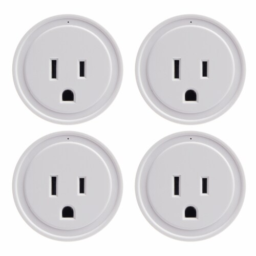 Energizer Connect EIX3-1003-PP4 15-Amp Smart Wi-Fi Plugs (4 Pack) Perspective: front