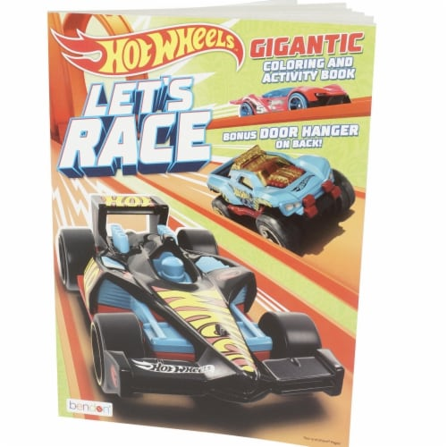 Hot Wheels 2342574 Gigantic Coloring & Activity Book - Case of 24 Perspective: front