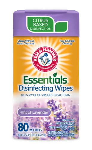 Arm & Hammer Lavender Disinfecting Wipes Perspective: front