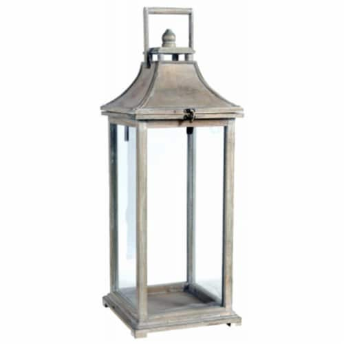 A & B Home 247617 Ivona Small Garden Candle Lantern Perspective: front