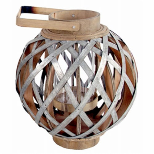A & B Home 247607 Small Round Shanghai Lantern - 11.5 x 11.5 x 12.8 in. Perspective: front