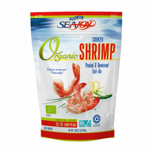 True North Easy Peel Cooked Organic Shrimp Perspective: front