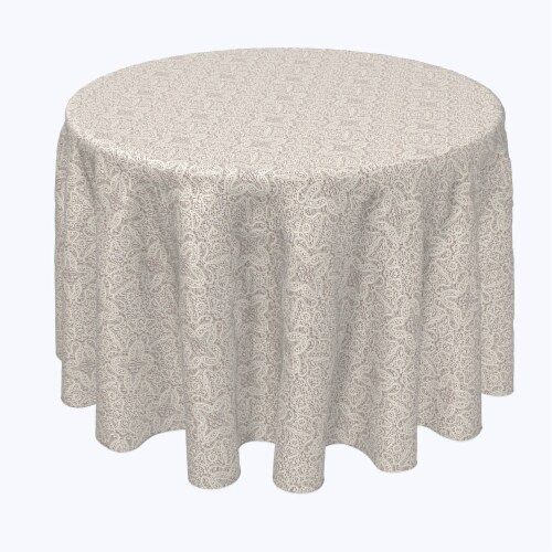 """Round Tablecloth, 100% Polyester, 120"""" Round, Abstract Detailed Lace Perspective: front"""