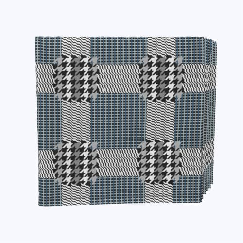 """Napkin Set, 100% Polyester, Set of 12, 18x18"""", Retro Houndstooth Perspective: front"""