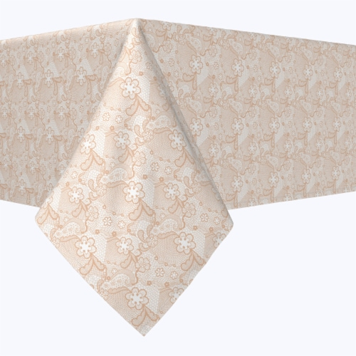"""Rectangular Tablecloth, 100% Polyester, 60x84"""", Victorian Wedding Lace Perspective: front"""
