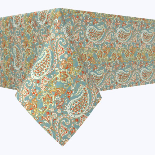 """Square Tablecloth, 100% Polyester, 70x70"""", Vintage Paisley Damask Perspective: front"""