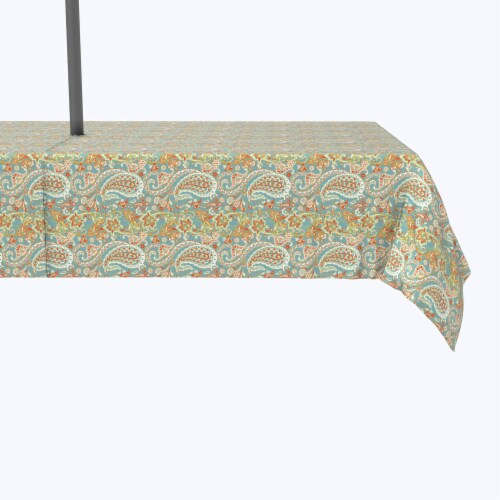 """Water Repellent, Outdoor, 100% Polyester, 60x120"""", Vintage Paisley Damask Perspective: front"""