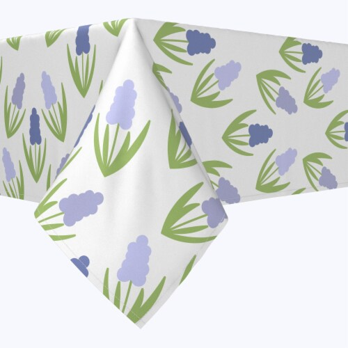 """Square Tablecloth, 100% Polyester, 70x70"""", Simple Hyacinths Perspective: front"""