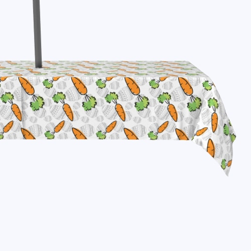 """Water Repellent, Outdoor, 100% Polyester, 60x104"""", What Up Doc Carrots Perspective: front"""