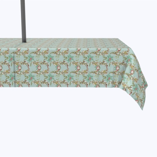"""Water Repellent, Outdoor, 100% Polyester, 60x84"""", Botanical Sketch Garland Perspective: front"""