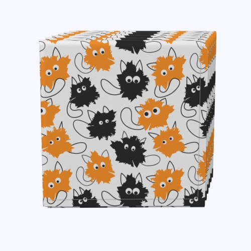 """Napkin Set, 100% Polyester, Set of 12, 18x18"""", Goofy Funny Cats Perspective: front"""