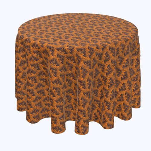 """Round Tablecloth, 100% Polyester, 60"""" Round, Halloween Bat Lace Perspective: front"""