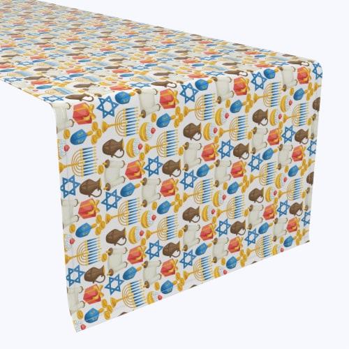 "Table Runner, 100% Polyester, 14x108"", Menorah Memories Perspective: front"