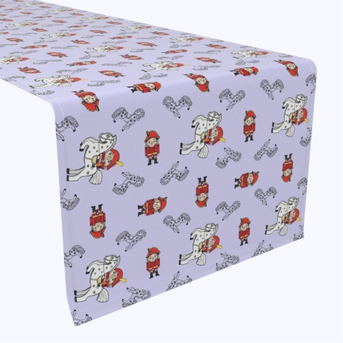 "Table Runner, 100% Polyester, 14x108"", Nutcracker Fairy Tale Perspective: front"