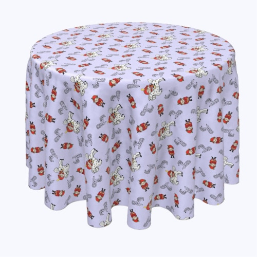 "Round Tablecloth, 100% Polyester, 60"" Round, Nutcracker Fairy Tale Perspective: front"