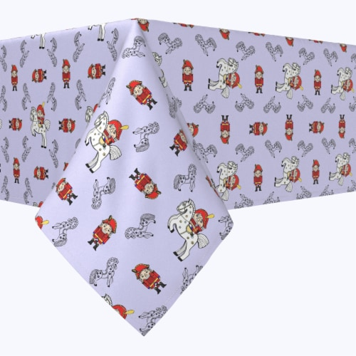 """Rectangular Tablecloth, 100% Polyester, 60x120"""", Nutcracker Fairy Tale Perspective: front"""