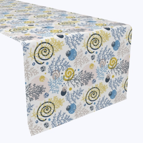 """Table Runner, 100% Polyester, 12x72"""", Winter Swirls and Twirls Perspective: front"""