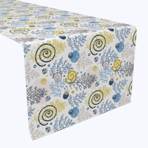 """Table Runner, 100% Polyester, 14x108"""", Winter Swirls and Twirls Perspective: front"""