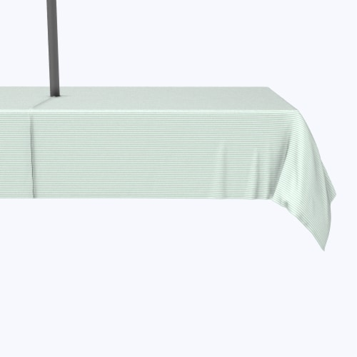 """Water Repellent, Outdoor, 100% Polyester, 60x104"""", Pinstripes, Celadon & White Perspective: front"""