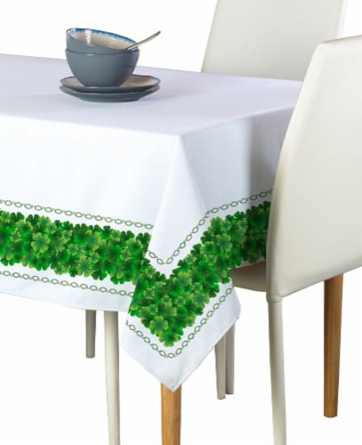 "Rectangular Tablecloth, 100% Polyester, 60x104"", Clover Arches Garland Perspective: front"