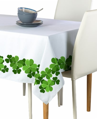 "Rectangular Tablecloth, 100% Polyester, 60x120"", Clover Garland Perspective: front"