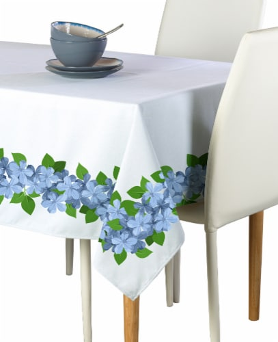 "Rectangular Tablecloth, 100% Polyester, 60x84"", Forget Me Not Garland Perspective: front"