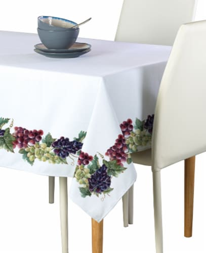 "Rectangular Tablecloth, 100% Polyester, 60x84"", Grape Vine Garland Perspective: front"