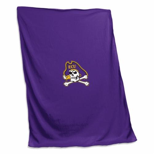 East Carolina Sweatshirt Blanket Perspective: front