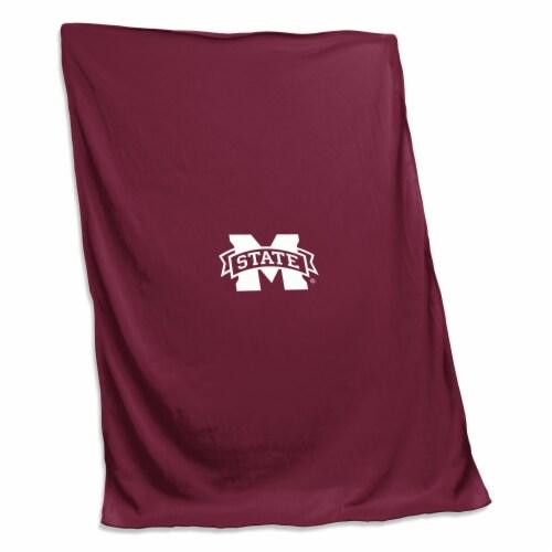 Mississippi State Sweatshirt Blanket Perspective: front