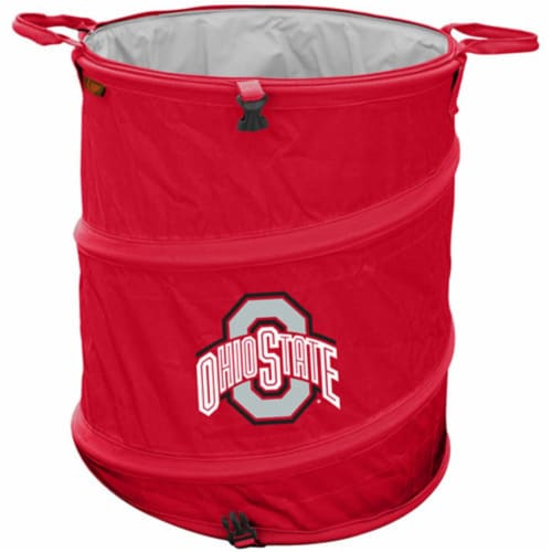 Logo Brands 191-35 Ohio State Trash Can Perspective: front