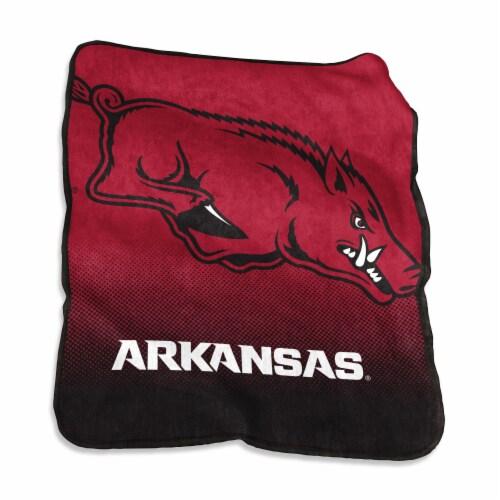 University of Arkansas Raschel Throw Blanket Perspective: front