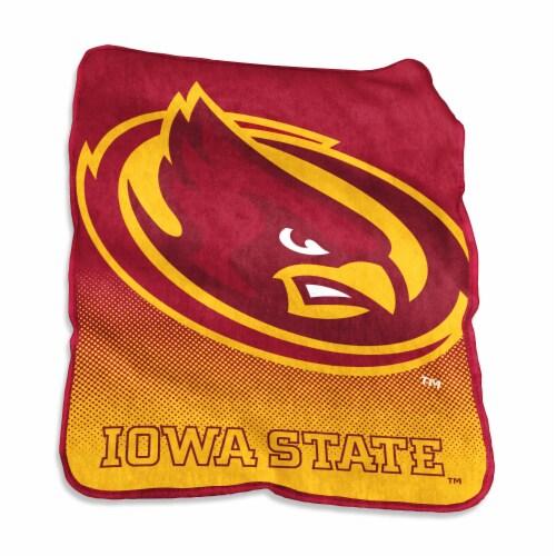 Iowa State University Raschel Throw Blanket Perspective: front