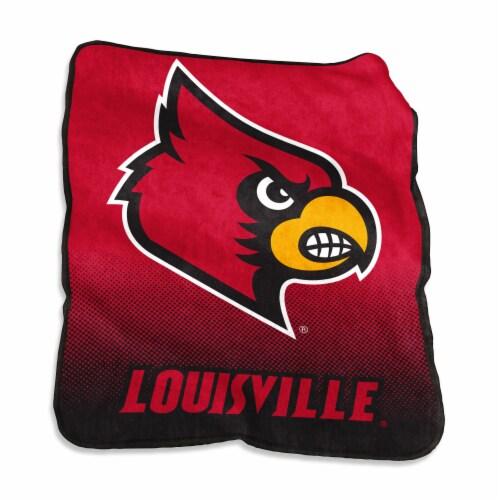 University of Louisville Raschel Throw Blanket Perspective: front