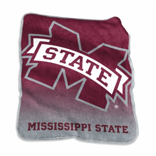 Mississippi State University Raschel Throw Blanket Perspective: front