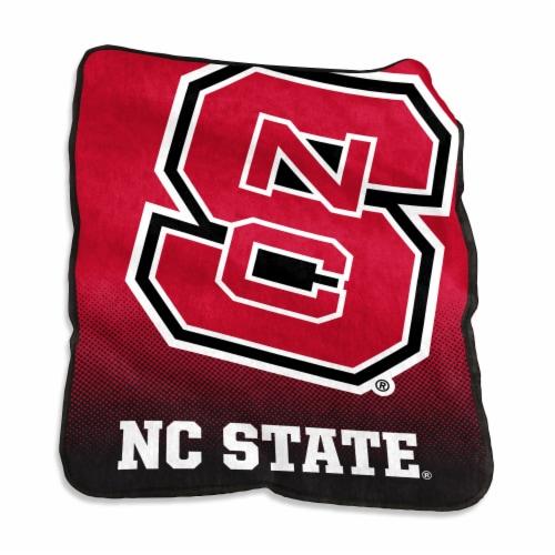North Carolina State University Raschel Throw Blanket Perspective: front
