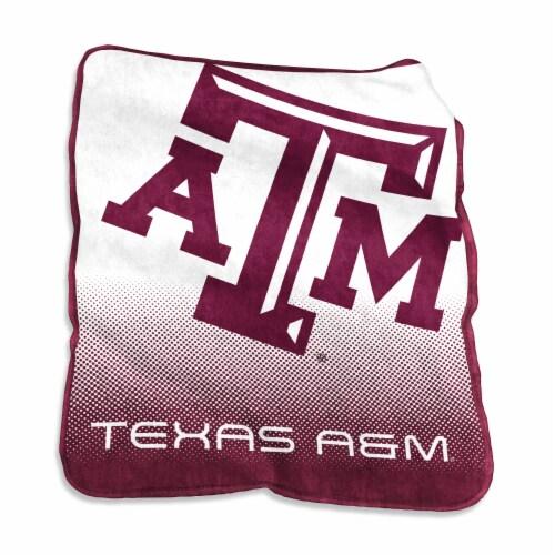 Texas A&M University Raschel Throw Blanket Perspective: front