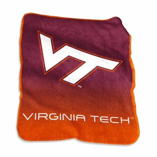Virginia Tech Hokies Raschel Throw Perspective: front