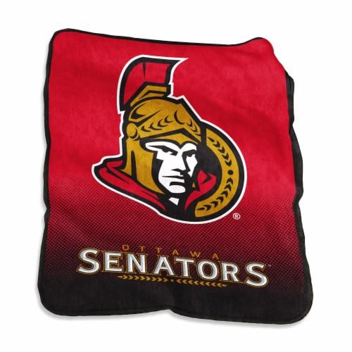 Ottawa Senators Raschel Throw Blanket Perspective: front
