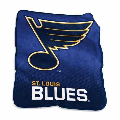 St. Louis Blues Raschel Throw Blanket Perspective: front
