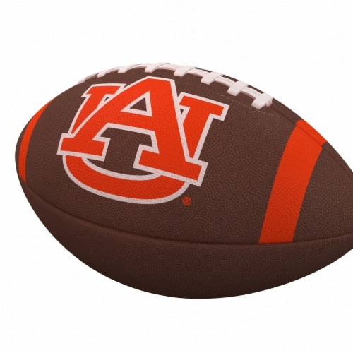 Logo Brands 110-93FC-1 Auburn Team Stripe Official-Size Composite Football Perspective: front