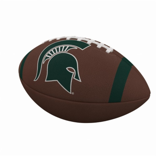 Logo Brands 172-93FC-1 MI State Team Stripe Official-Size Composite Football Perspective: front