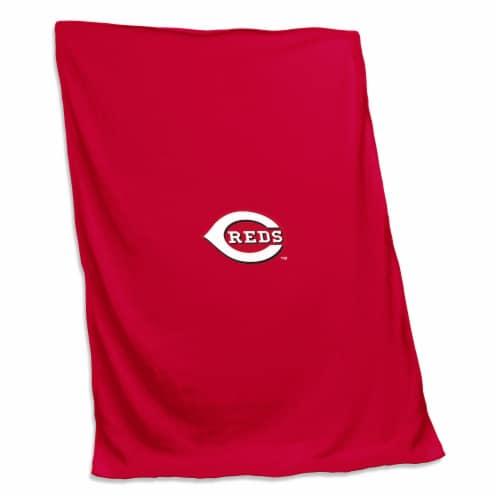 Cincinnati Reds Sweatshirt Blanket Perspective: front