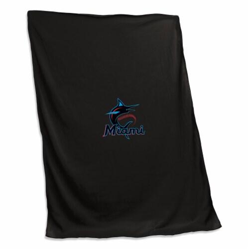 Miami Marlins Sweatshirt Blanket Perspective: front