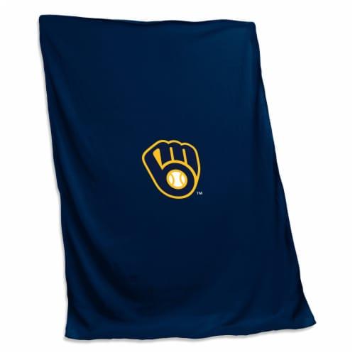 Milwaukee Brewers Sweatshirt Blanket Perspective: front