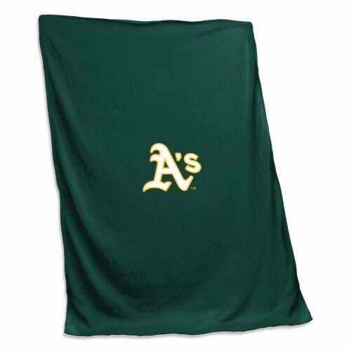 Oakland Athletics Sweatshirt Blanket Perspective: front